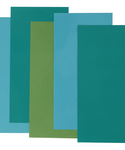 Color Dekor, blauw/groen harmonie 5 diverse vellen
