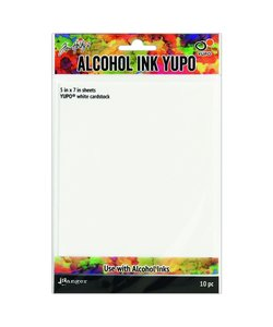 10stRanger Alcohol Ink Yupo Papier Wit 5x7'' 10st