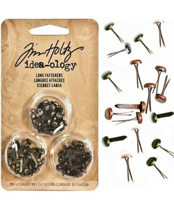 Tim Holtz Idea-Ology Long Fasteners 99 pcs