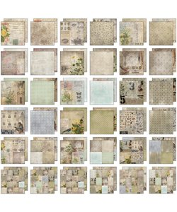 Tim Holtz Idea-Ology Paper Stash Wallflower 36 pcs