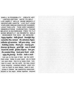 Tim Holtz Idea-Ology Remnant Rub-Ons Tiny Text