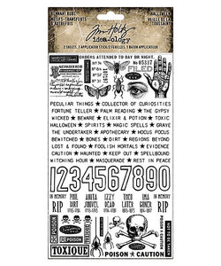 Tim Holtz Idea-Ology Remnant Rub-Ons Halloween