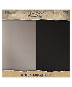 """Tim Holtz Idea-Ology Kraft stock 8 x 8"""" Metallic-3"""