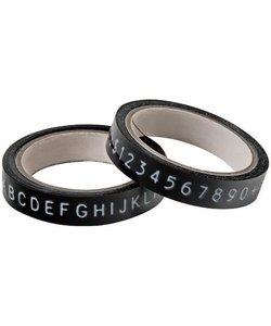 Tim Holtz Idea-Ology Label tape zwart/wit