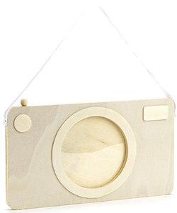 Houten Fotolijstje Camera 20 x 11.5cm