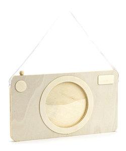 Houten Fotolijstje Camera 11,5x20cm