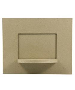 Decopatch Papier Mache fotolijst met plank 27x22cm -foto 18,5x14cm