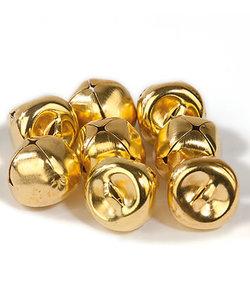 Bellen, 15 mm., goudkleurig, 10 st.