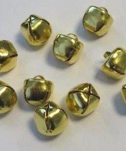 Bellen, 12 mm., goudkleurig, 10 st.