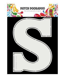 "Dutch Doobadoo Card Art A5 Chocolade letter ""S"""