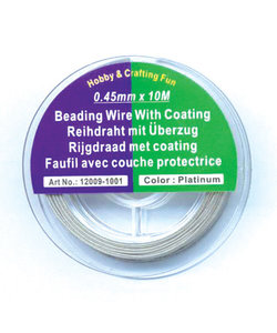 Beading Wire 0,45mm 10m Zilver