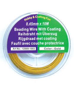 Beading Wire 0,45mm 10m Gold