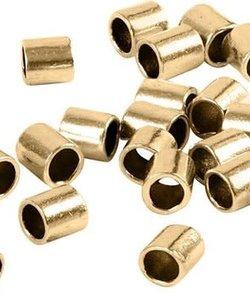 Knijpkraal Tube Goud 1,5x1,5mm 100 stuks