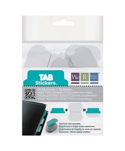 We R Memory Keepers Tab Stickers 12st Teal