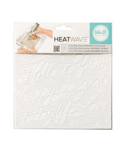 We R Memory Keepers Heatwave Stencil Script