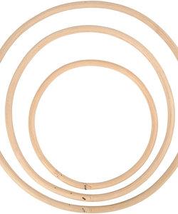 Ringen Bamboe 15,3-20,3-25,3cm 3st