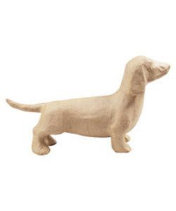 Decopatch Papier Mache Hond Teckel 7x15,5x27,5cm