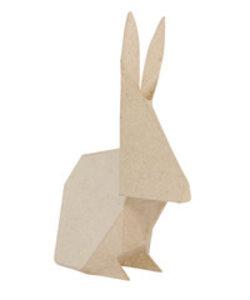 Decopatch Papier Mache Konijn Origami 6,5x12x19cm