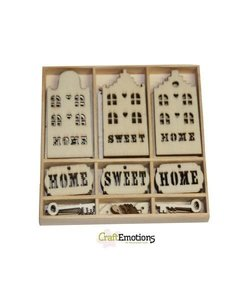 Hout ornament Home sweet home
