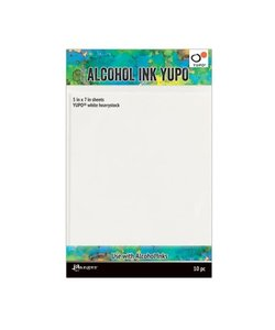 Ranger Alcohol Ink Yupo Papier  Wit Heavystock 5x7'' 10st