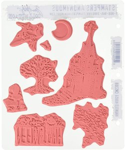Tim Holtz Cling Stamp Haunted House