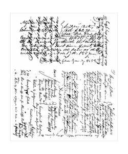 Tim Holtz Cling Stamp Ledger script