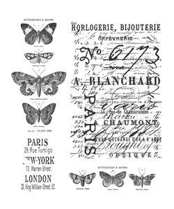 Tim Holtz Cling Stamp Papillon