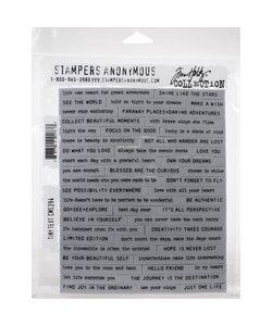Tim Holtz Cling Stamp Tiny text