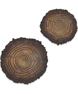 Sizzix Bigz Die with Texture Fades Tree rings mini