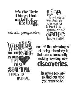Tim Holtz Cling Stamp Good thoughts