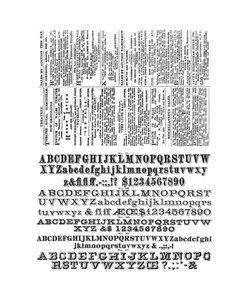 Tim Holtz Cling Stamp Newsprint & type