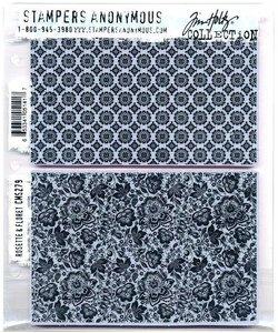 Tim Holtz Cling Stamp Rosette & Floret