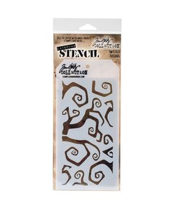"Tim Holtz Layered Stencil 4.125 ""X8.5"" Twisted"