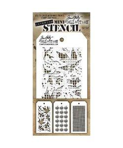 Tim Holtz Mini Layered Stencil Set 22 3/Pkg