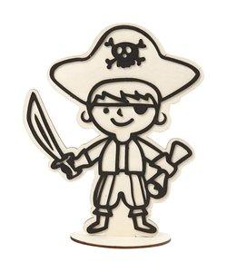 Houten Figuur Piraat