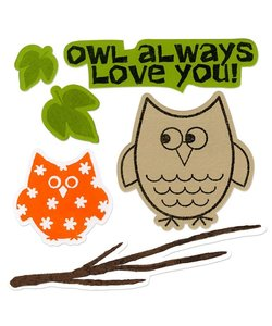 Sizzix Framelits Die Set Stephanie Barnard Stamps Autumn Owls