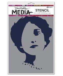 Ranger Dina Wakley Media Stencil Queenie