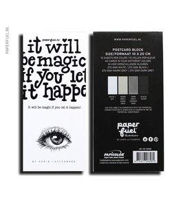 "Paperfuel ""It will be magic"" 10x20cm - 4 kleuren (KADOTIP)"