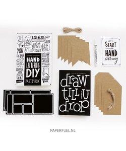 DIY Handlettering Partybox Paperfuel (KADOTIP)