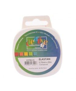 Vaessen Creative Elastan Koord Elastisch Transparant 0,7mm 20m