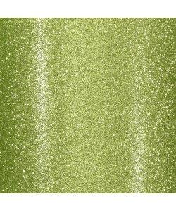 Glitterpapier zelfklevend 30.5x30.5 Limoen