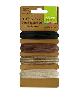 Hemp cord Naturel 4x10 m d:1mm Basic