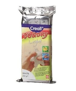 Creall Do & Dry Modelling Clay White lightweight