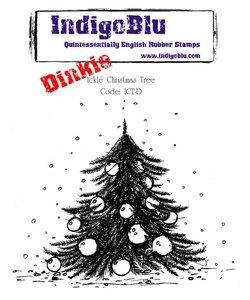 IndigoBlu Ickle Christmas Tree Dinkie Rubber Stamp
