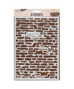 Bebox Stencil A4 Stenen muur