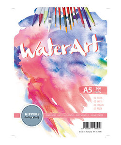 Kippers Waterart Aquarelpapier Wit A5 300g 20 vel.