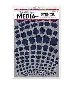 Ranger Dina Wakley Media Stencil Scales