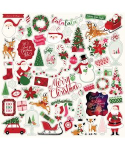 Echo Park Element Sticker Merry & Bright