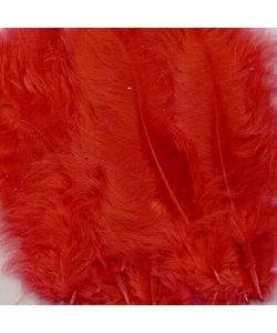 Veren Marabou Rood 8,5-12,5cm 15st
