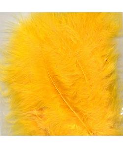 Veren Marabou Geel 8,5-12,5cm 15st